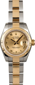 Ladies Rolex Datejust 179173 Two Tone Oyster Band