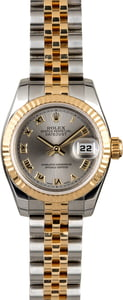 Rolex Lady Datejust 179173 Rhodium Roman Dial