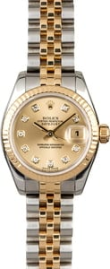 Women's Rolex Datejust 179173 Two Tone Jubilee