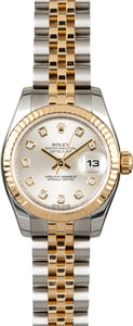 Used Rolex Datejust 179173 Silver Diamond Dial