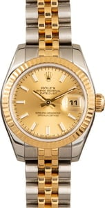 Rolex Lady-Datejust 179173 Two-Tone Champagne
