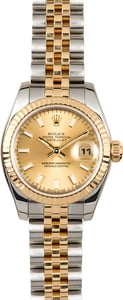 Rolex Lady-Datejust 179173 Champagne Index