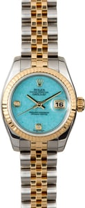 Rolex Lady-Datejust 179173 Turquoise Diamond