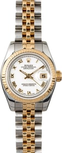 Rolex Lady-Datejust 179173 White Roman Dial