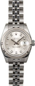 Rolex Ladies Datejust 179174 Silver Diamond