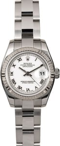 Women's Rolex Datejust 179174 White Roman
