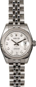 Rolex Lady Datejust 179174 Silver Diamond Jubilee Dial