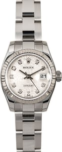 Rolex Ladies Datejust 179174 Silver Jubilee Diamond Dial