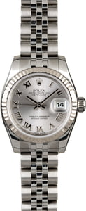 Rolex Lady Datejust 179174 Rhodium Dial