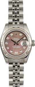 Rolex Datejust 179174 Black MOP Diamond Dial