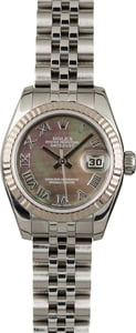Rolex Ladies Datejust 179174 Black MOP Dial