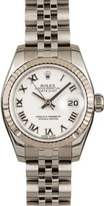 Rolex Lady-Datejust 179174 White Roman