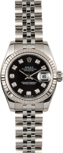 Rolex Lady-Datejust 179174 Black Diamond Dial