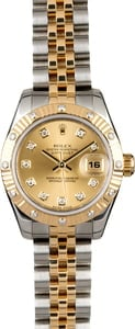 Rolex Lady Datejust 179313 Fluted Diamond Bezel