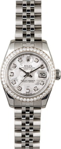 Rolex Lady Datejust 179384 Grey Crystal Diamond Dial