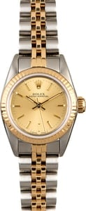 Women's Rolex Oyster Perpetual 67193 Champagne