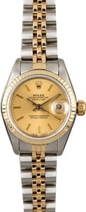 PreOwned Rolex Datejust 69173 Two Tone Jubilee