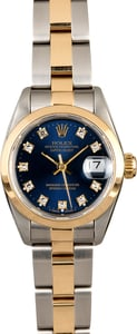 Ladies Rolex Datejust 69163 Blue Diamond Dial