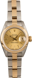 Pre Owned Rolex Lady-Datejust 69163 Champagne Dial
