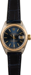 Used Rolex Datejust 6917 Blue Dial Leather Strap