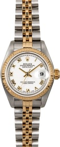 Ladies Rolex Datejust 69173 White Roman