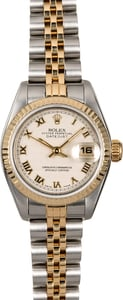 Datejust Ladies Rolex 69173 Ivory Pyramid Dial