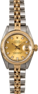 Womens Rolex Diamond Datejust 69173