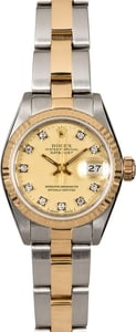 Women's Rolex Datejust 69173 Diamond Dial
