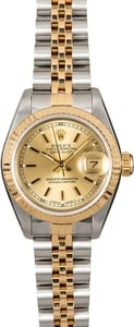 Used Ladies Rolex Datejust 69173 Champagne Dial