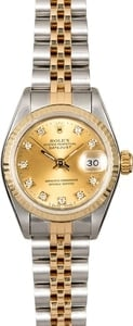 Women's Rolex Datejust 69173 Champagne Diamond Dial