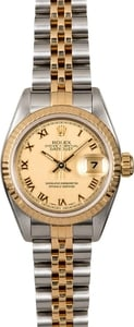 Rolex Ladies Datejust 69173 Champagne Roman