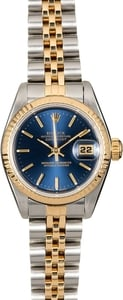 Rolex Ladies Datejust 69173 Blue Index Dial