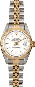 Ladies Rolex Datejust 69173 White Index Dial