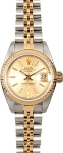 Ladies Rolex Datejust 69173 Champagne Tapestry Dial