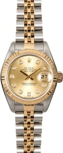 Authentic Rolex Lady Datejust 69173 Diamond Dial
