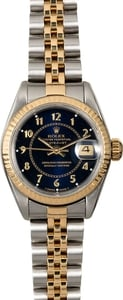 Rolex Lady Datejust 69173 Blue Arabic Dial