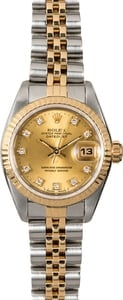 Rolex Datejust 69173 Women's Champagne Diamond Dial