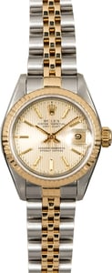 Rolex Lady Datejust 69173 Silver Tapestry Dial