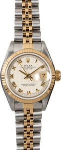 Rolex Ladies Datejust 69173 Ivory Pyramid Dial