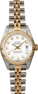 Rolex Lady Datejust 69173 White Diamond Dial