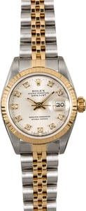 Rolex Lady Datejust 69173 Silver Diamond Dial
