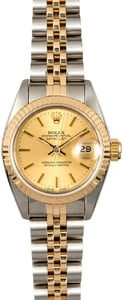 Two Tone Rolex Lady Datejust 69173 Champagne Dial
