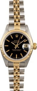 Women's Rolex Datejust 69173 Black Dial