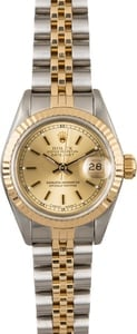 Rolex Datejust 69173 Champagne Dial Women's Watch