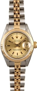 Certified Rolex Ladies Datejust 69173 Champagne Dial