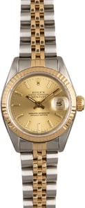 PreOwned Rolex Lady Datejust 69173 Champagne Dial