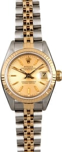 Certified Rolex Lady Datejust 69173 Champagne Dial