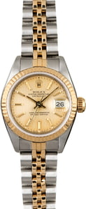 Rolex Ladies Datejust 69173 Champagne Tapestry Dial