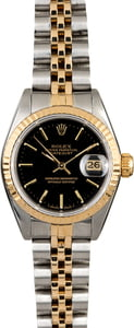 Rolex Ladies Datejust 69173 Black Index Dial