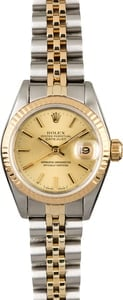 Ladies Used Rolex Datejust 69173 Two Tone Jubilee